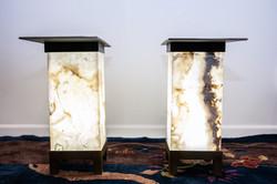 Agate & Steel Lamp