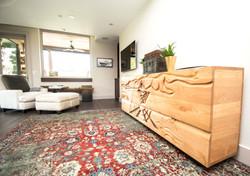 Custom Carved Walnut Dresser