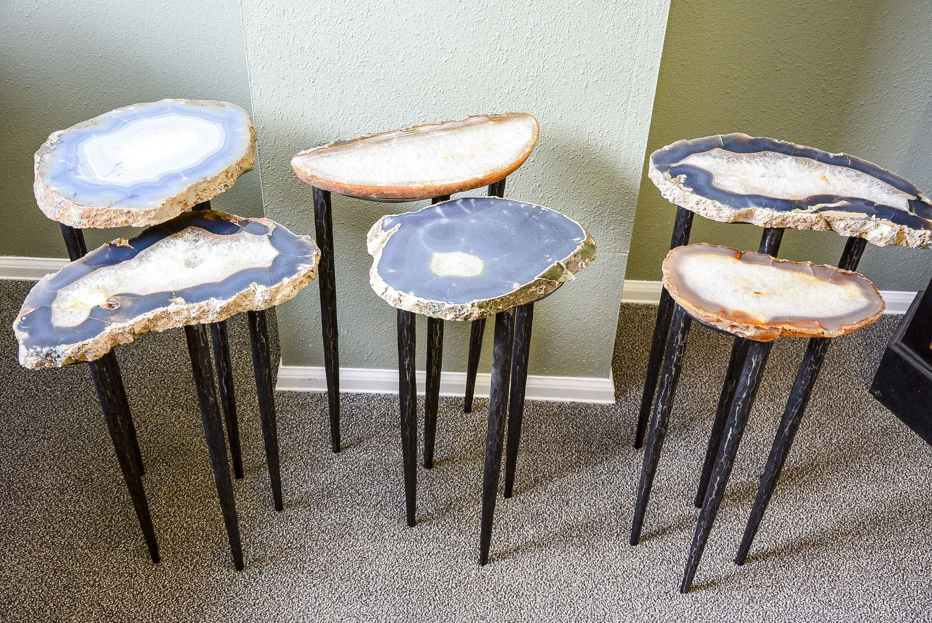 Agate Slab Nesting Tables