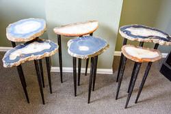 Agate Slab Nesting Tables