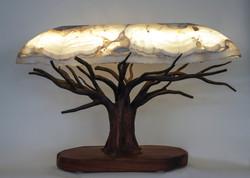 White Lace Onyx Tree Lamp