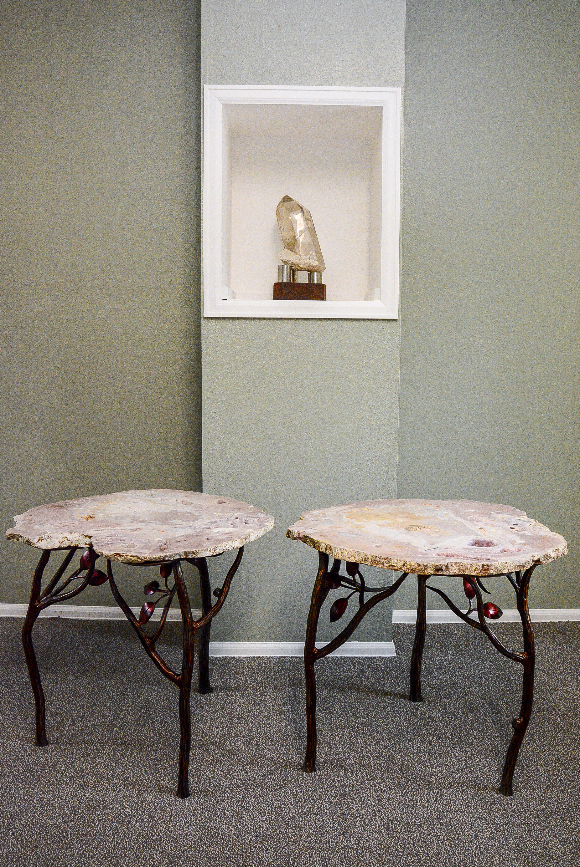 Rose Quartz Crystal Tables