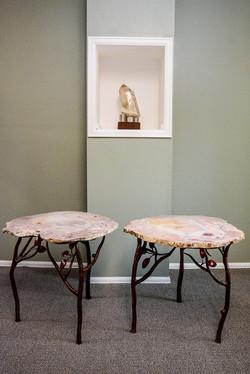 Rose Quartz Crystal Tables