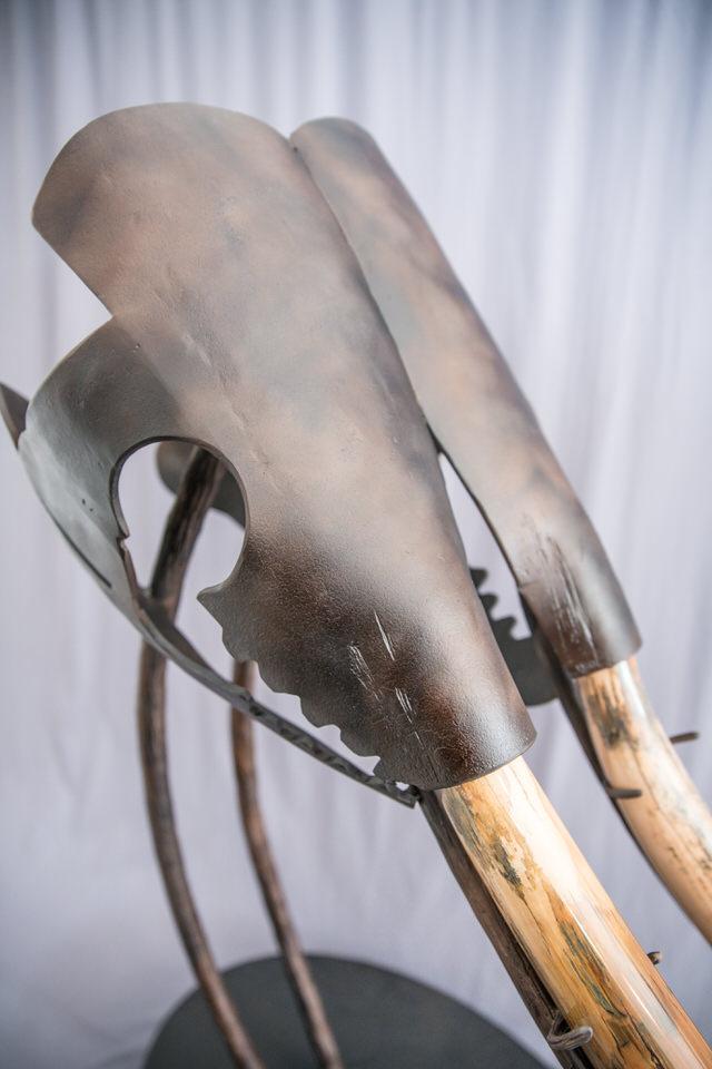 Mastodon Tusk in Steel Sculpture