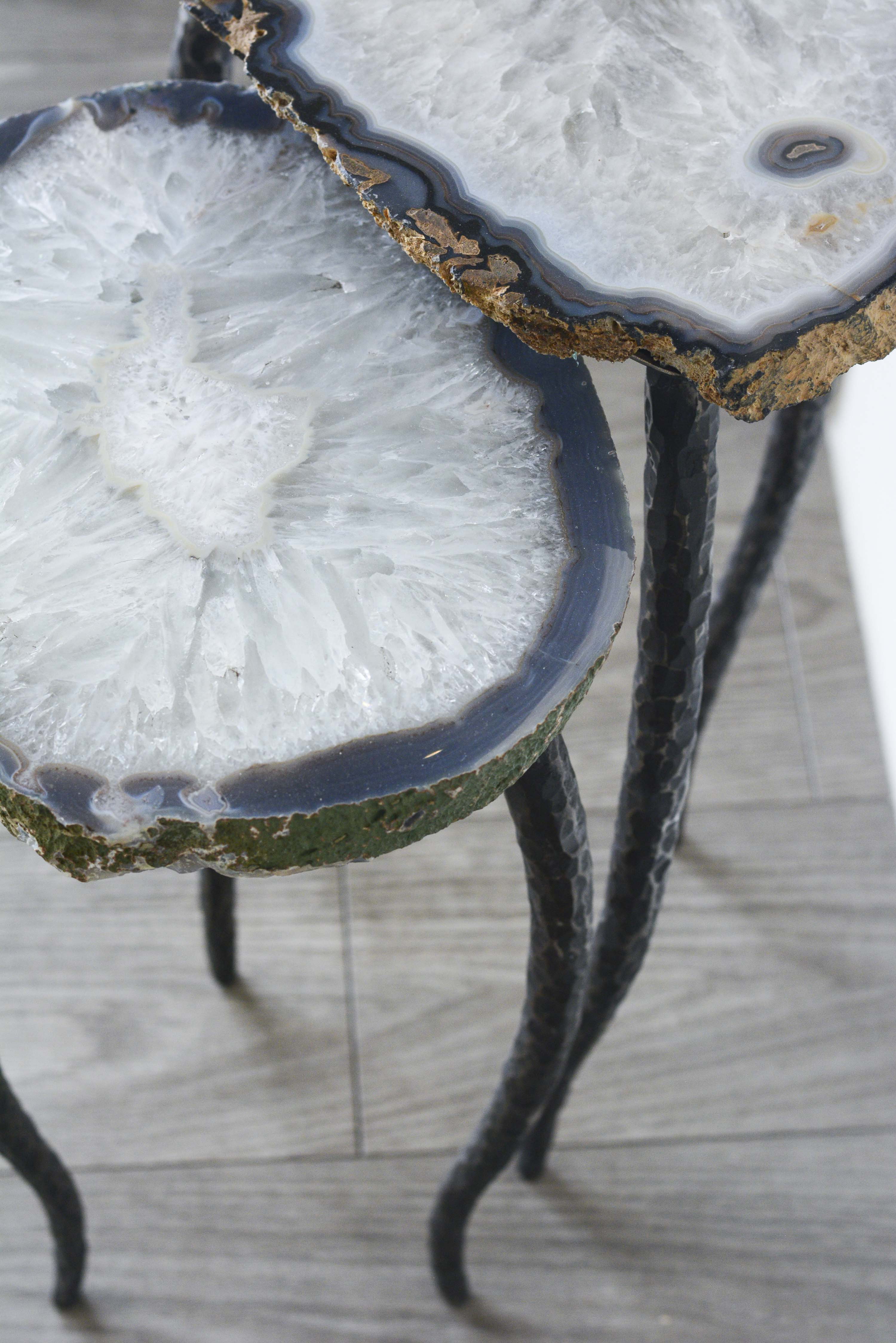 Agate & Forged Steel Nesting Tables
