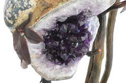 Amethyst Geode & Steel Sculpture