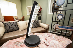 Crystal & Steel Table Lamp