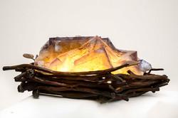 Fluorite & Hand Forged Steel Nest