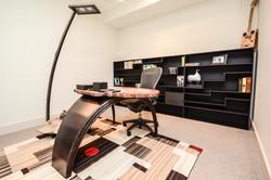 Custom Steel & Petrified Wood Desk