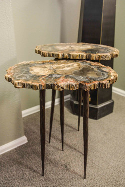 Petrified Wood & Hand Forged Tables