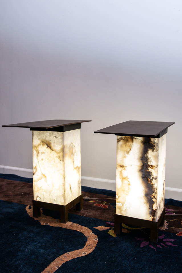 Agate & Steel Lamp