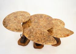 Ammonite & Steel Nesting Tables