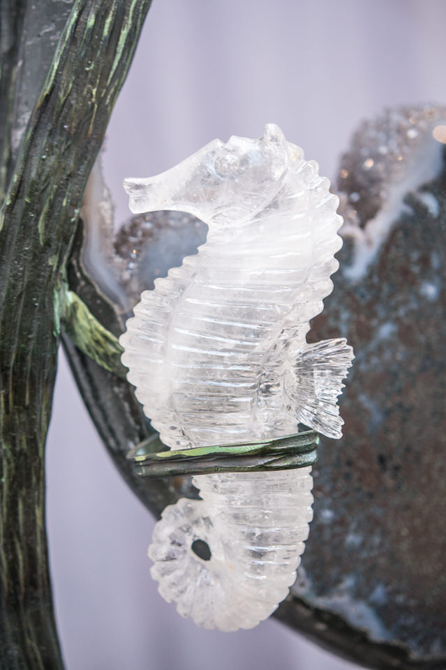 Crystal & Steel Sea Sculpture
