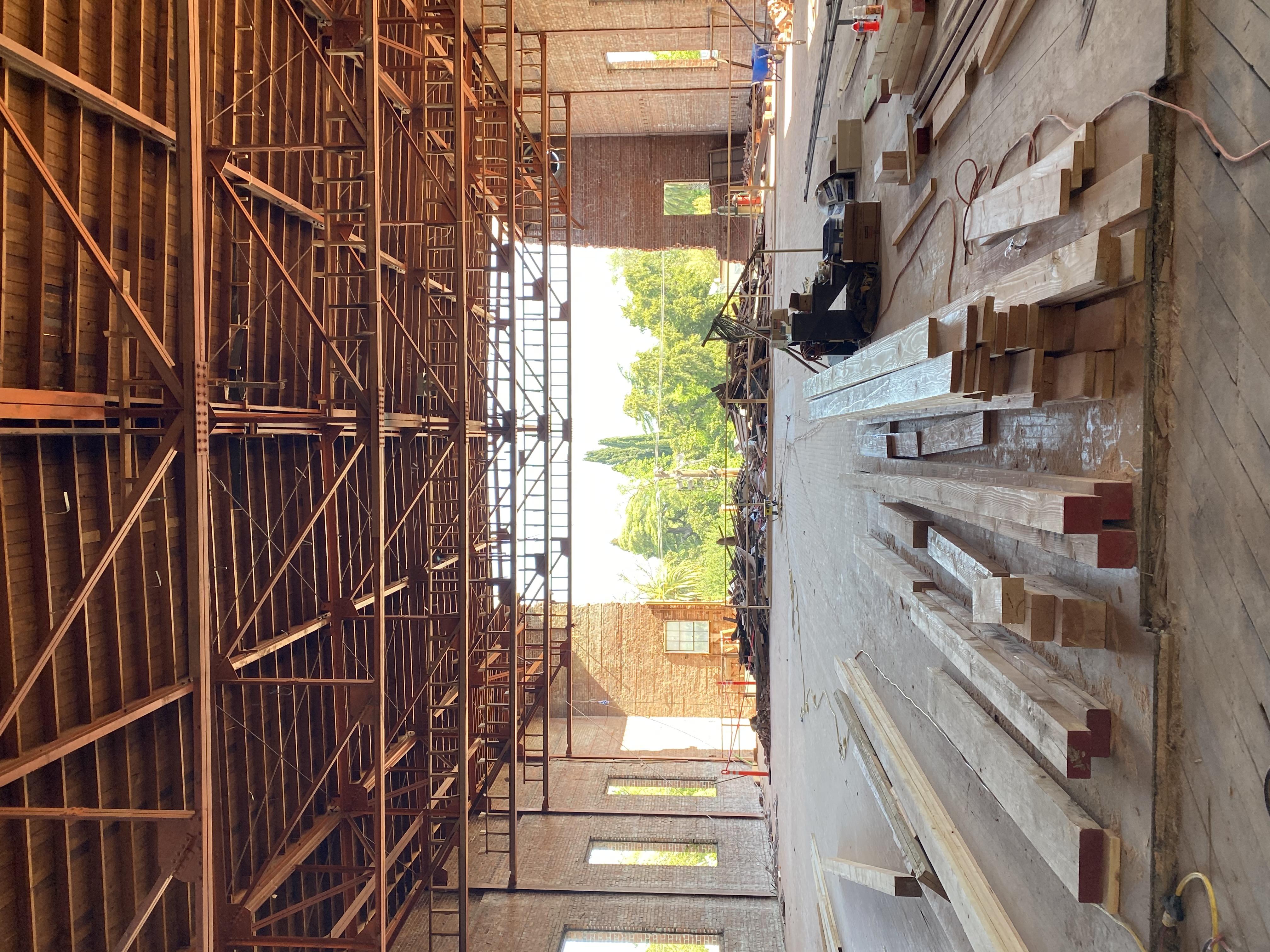 Upper floor brick openning
