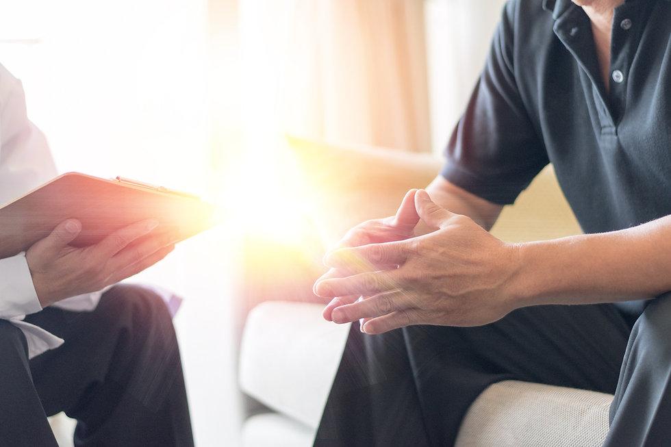 Man Seeking alcohol rehab consultation