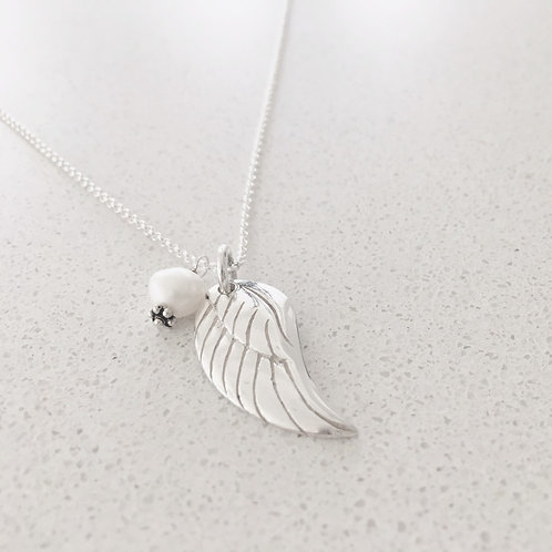 Angels Wing with Freshwater Pearl