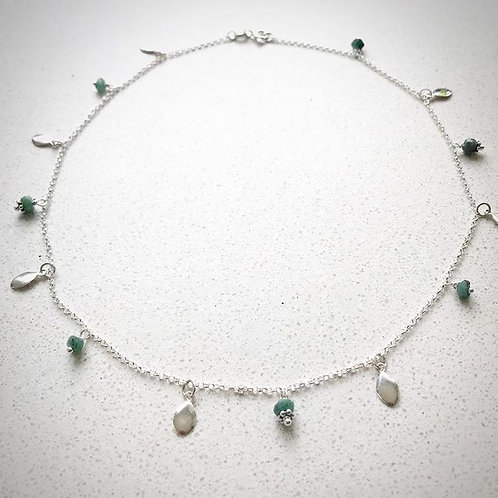 Ruby Zoisite and petal choker