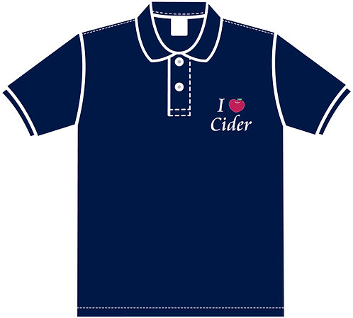 I Love Cider ポロシャツ