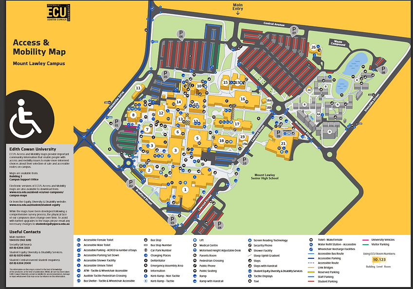 Map Of Edith Cowan University
