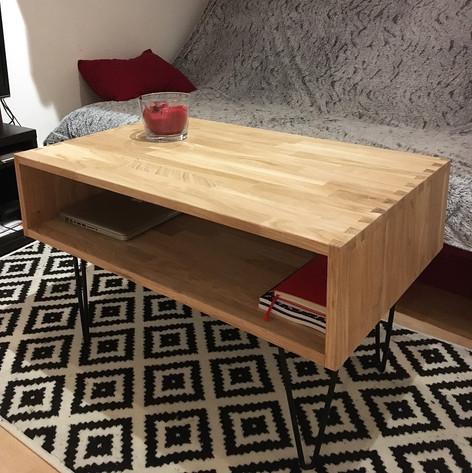 table en chêne design