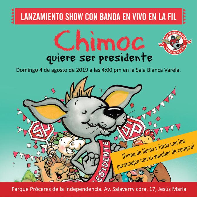 Chimoc quiere ser presidente en la FIL 2019