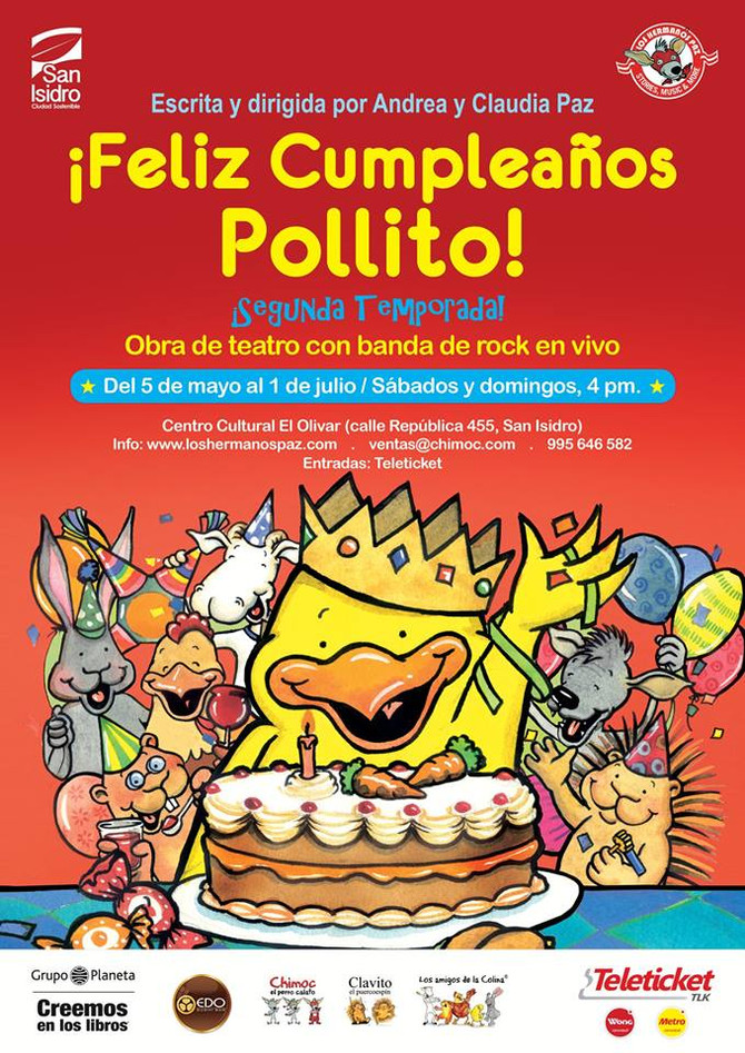 ¡Feliz cumpleaños, Pollito! vuelve al teatro en el 2018
