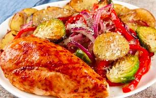 Honey-Garlic Chicken with Veggies