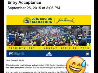 I AM RUNNING THE BOSTON MARATHON.