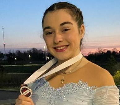 Ava Zakrewski Places 3rd in Novice Ladies Short Program