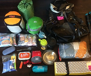 Gear for Hiking and Camp