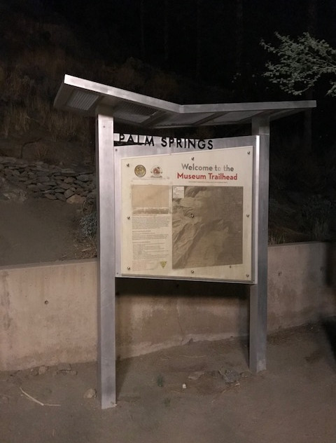 Trailhead behind the Museum