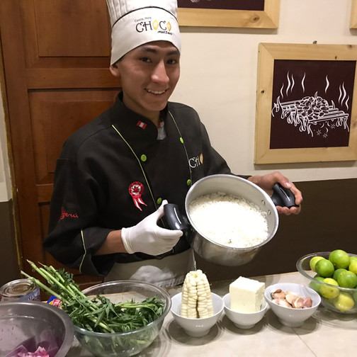 Gabo our Cooking Instructor