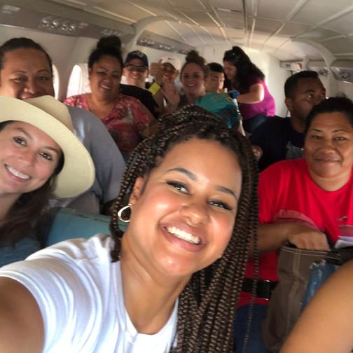 Flying from Tutuila to Tau'U