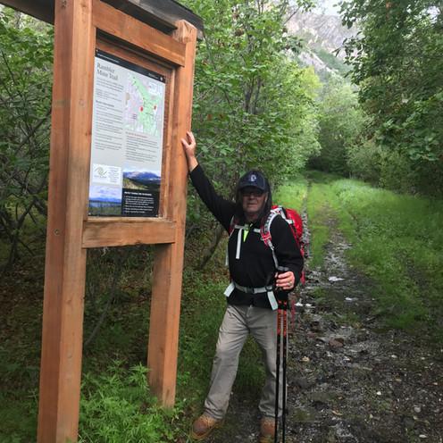 Dad at Rambler Mine Trail in Wrangell-St. Elias National Park