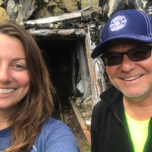 Dad and me at Rambler Mine