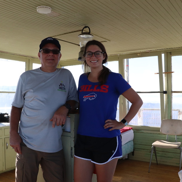 Dad & me inside the lookout