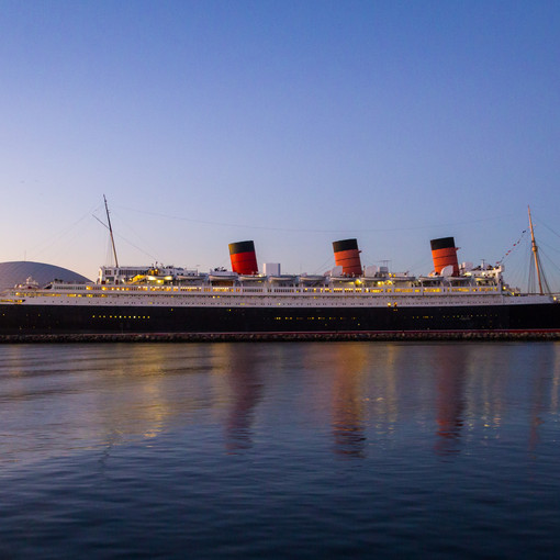 Queen Mary from the Catalina Express