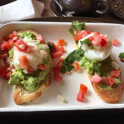Eggs & Avocado Toast at Papacho's