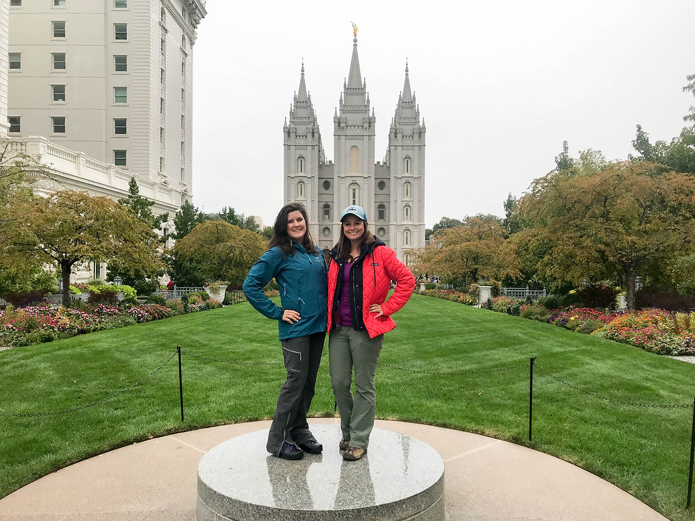 Ruth & me in Temple Square