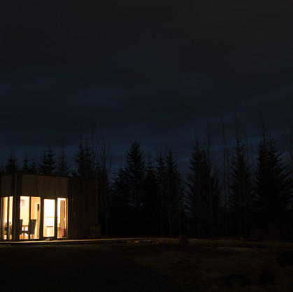 Bathhouse and Kitchen at Night