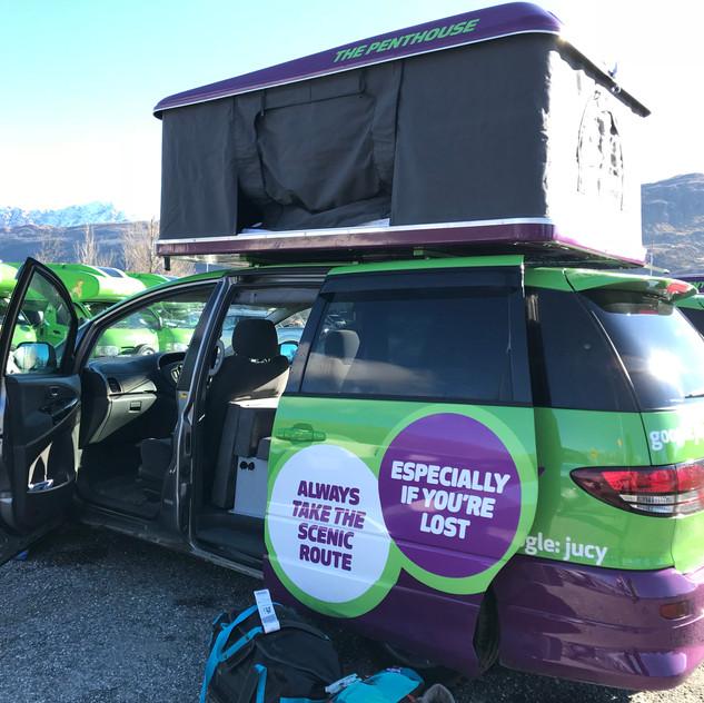 Jucy Camper Van All Set Up!