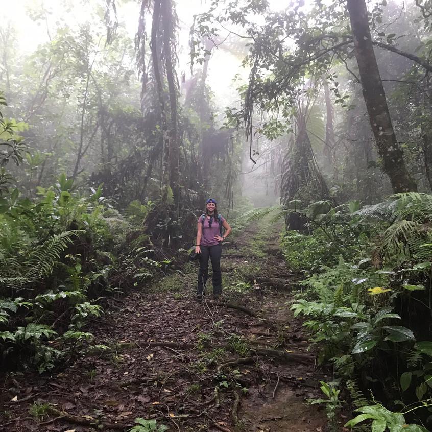 Hiking up Tumu Mountain Trail