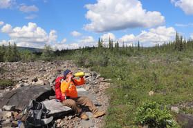 Dad needs a break - McKinley River Bar Trail