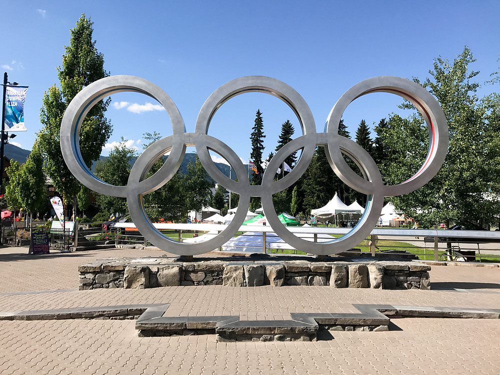 Olympic rings at Whistler's Marketplace