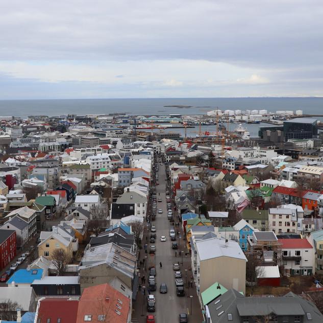 The View from Hallgrimskirkja Church