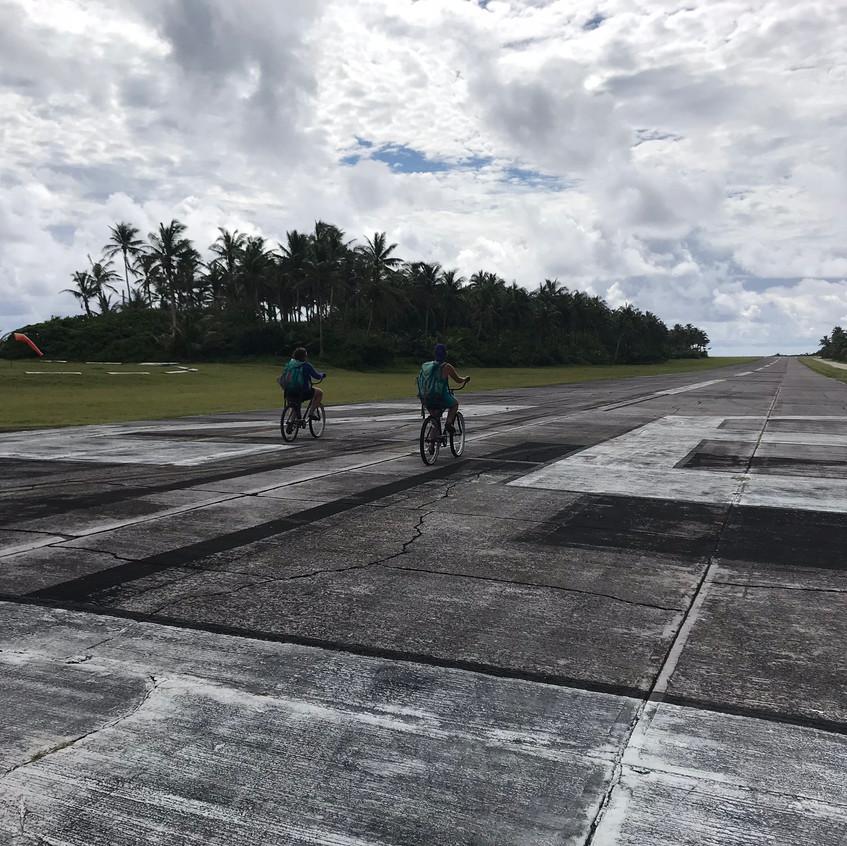 Bike Riding on the Airstrip