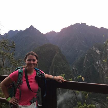 Sweaty yet Happy inside Machu Picchu
