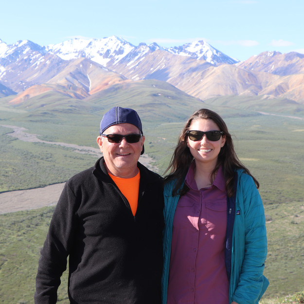 Dad and me at Polychrome Pass