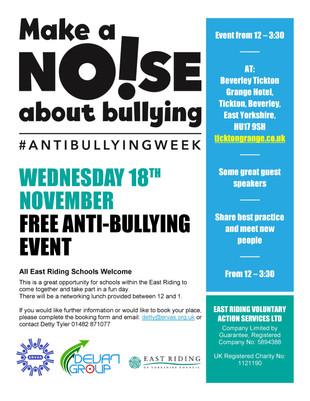 Free Anti-Bullying Event