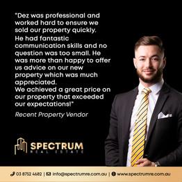 Customer review social media graphics - Spectrum Real Estate